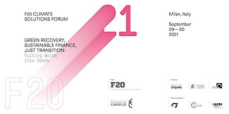 F20 Climate Solutions Forum tickets