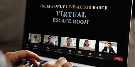 Live Actor virtual Escape Room tickets