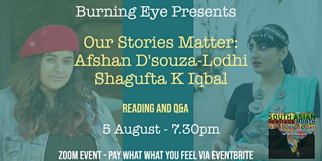 Burning Eye Presents: Our Stories Matter - South Asian Heritage Month tickets