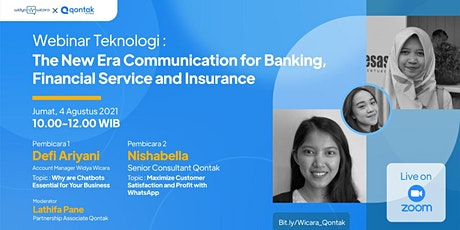 The New Era Communication for Banking, Financial Service, and Insurance tickets
