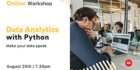 [Free workshop] Data Analytics with Python tickets
