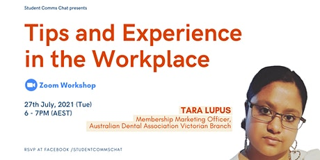 SCC Workshop: Tips and Experience in the Workplace tickets