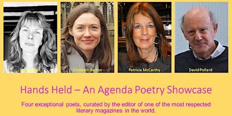 Hands Held: Agenda Poetry tickets