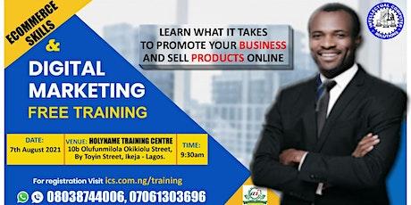 E-Commerce Skills And Digital Marketing | Free Training tickets
