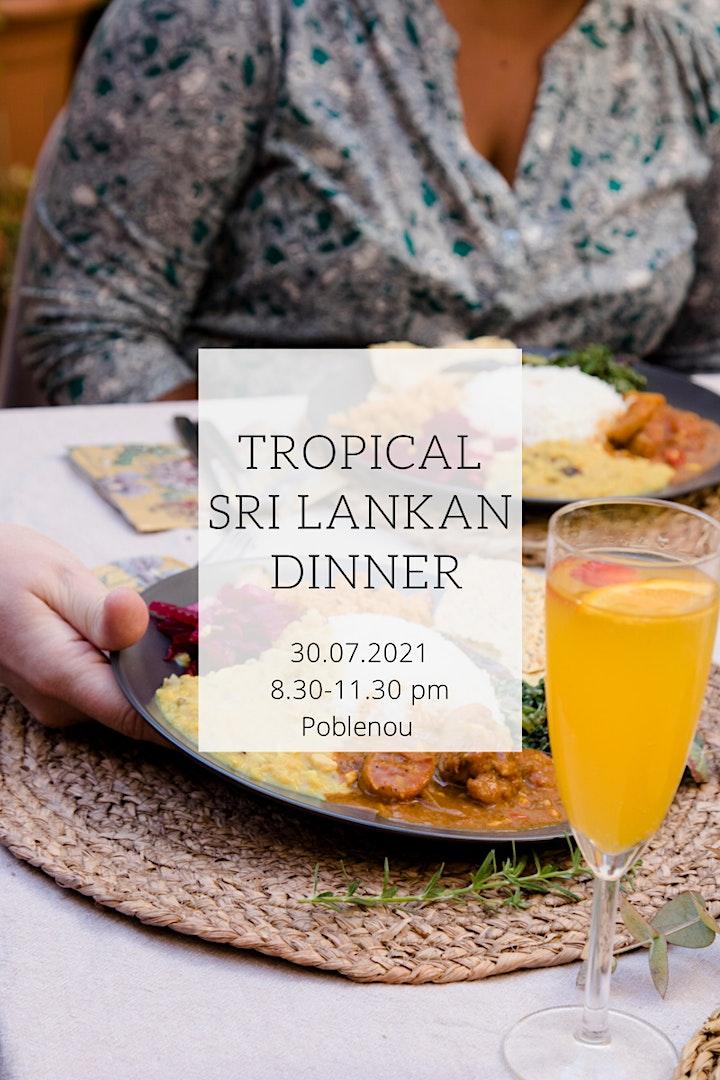 A Tropical Sri Lankan Dinner image