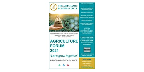 The Abrahamic Business Circle - AGRICULTURE INVESTMENT FORUM 2021 tickets