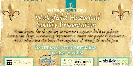 Wakefield Historical Society Presentation tickets