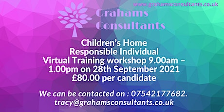 Copy of Children's Home Responsible Individual Training Workshop tickets