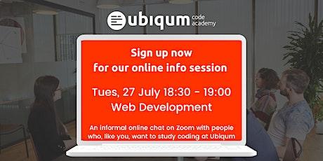 Ubiqum Group Information Session —Web Development billets
