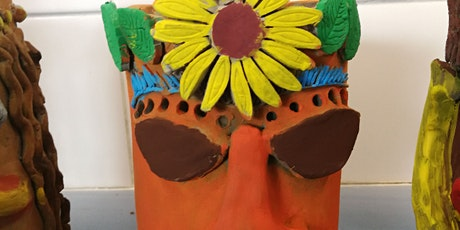 Kids Clay: Make your own Funky Flower Head Flower Pot tickets