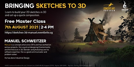 Bringing Sketches to 3D with Manuel tickets
