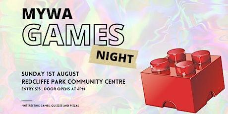 MYWA Games Night tickets