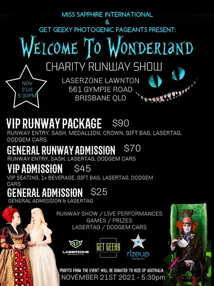 Welcome to Wonderland Charity Runway Show image