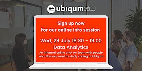 Ubiqum Group Information Session —Data Analytics & Machine Learning tickets
