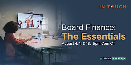 Board Finance: The Essentials Tickets