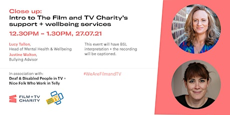 CLOSE UP: intro to The Film and TV Charity's support and wellbeing services tickets