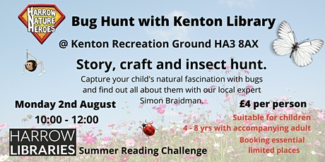 Summer Reading Challenge, Nature Adventure -  Bug Hunt with Kenton Library tickets