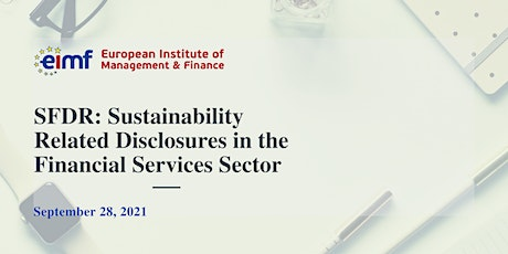 Sustainability Related Disclosures in the Financial Services Sector | SFDR tickets