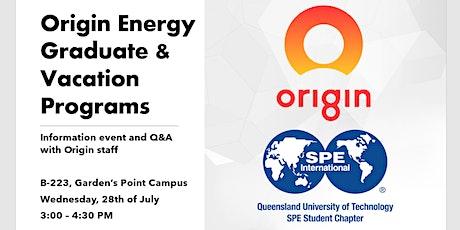 Origin Energy Graduate & Vacation Program Information Event tickets