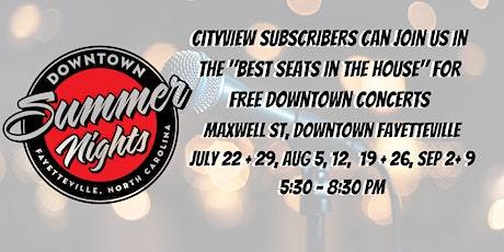 CityView Heard Seating at Downtown Summer Nights tickets