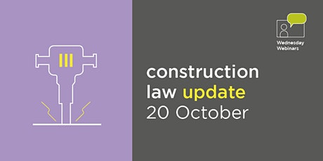 Construction Law update tickets