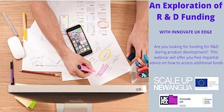SUNA Masterclass - Exploring R&D Funding with Innovate UK Edge tickets