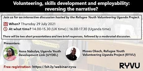 Volunteering, skills development & employability: reversing the narrative? tickets