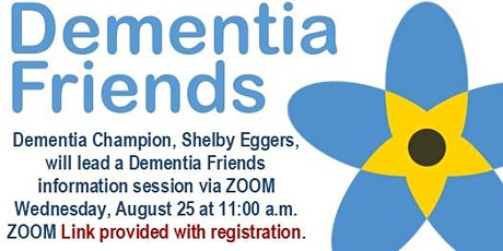 Dementia Friends Information Session - Aug. 25 tickets