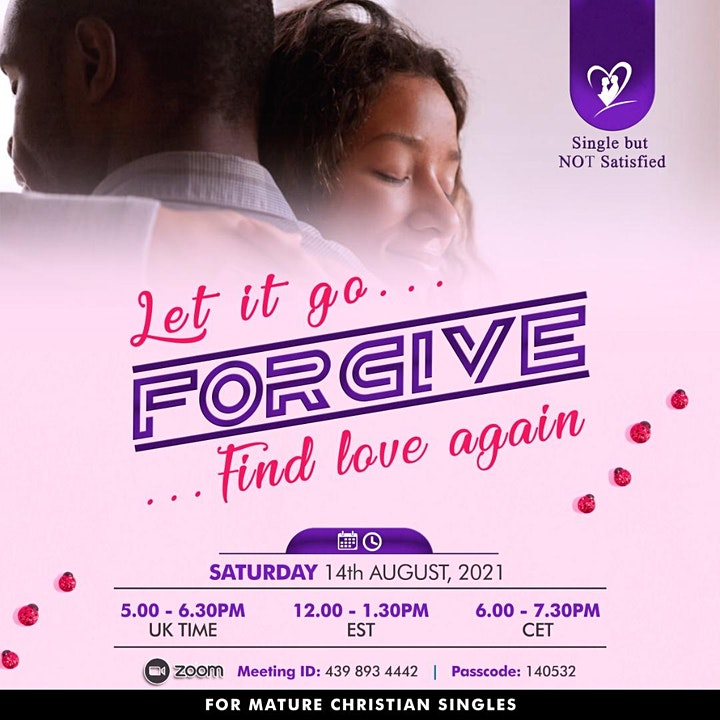 Mature Christian Singles: Let it go ...Find love again !!! image
