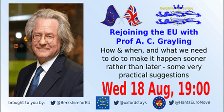 Rejoining the EU with Prof A. C. Grayling tickets