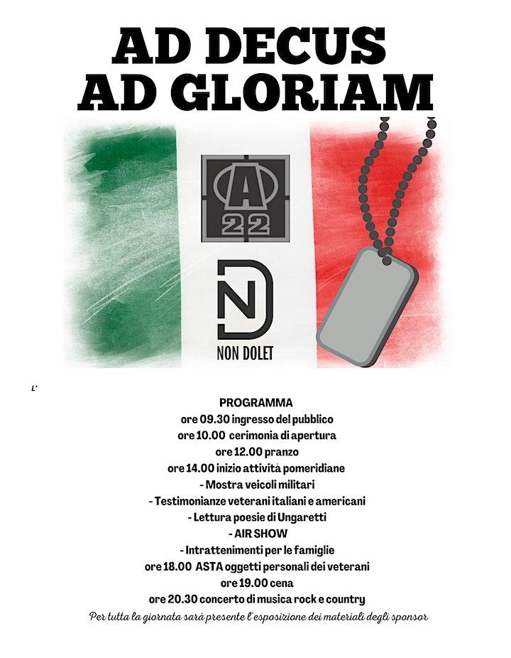 Immagine AD DECUS AD GLORIAM - 1^ Giornata dei Veterani Italiani