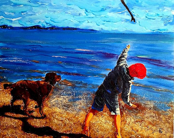 Children and far away seas image