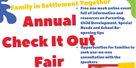Family in Settlement Together Annual Check It Out Fair tickets