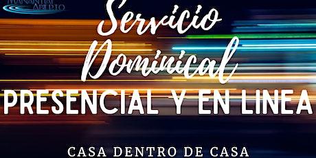 Servicio Dominical 25 Julio boletos