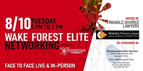 Free Wake Forest Elite Rockstar Connect Networking Event (August, NC) tickets