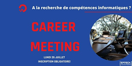Career Days - MSC 1 : Lundi 26 Juillet 2021 billets