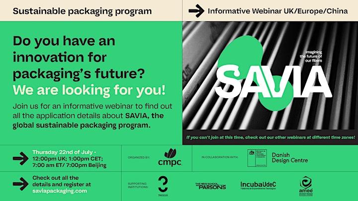 Imagen de Informative SAVIA Webinar UK/Europe/Asia