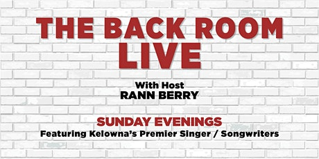 THE BACK ROOM LIVE... with Host RANN BERRY tickets