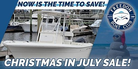 Freedom Boat Club Christmas in July at Topsail Island Marina! tickets