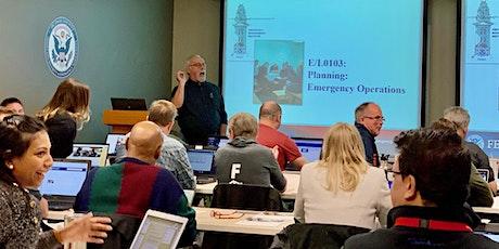 FEMA L0103: Planning Emergency Operations tickets