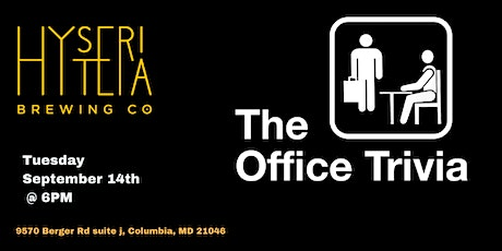The Office Trivia at Hysteria Brewing Company tickets