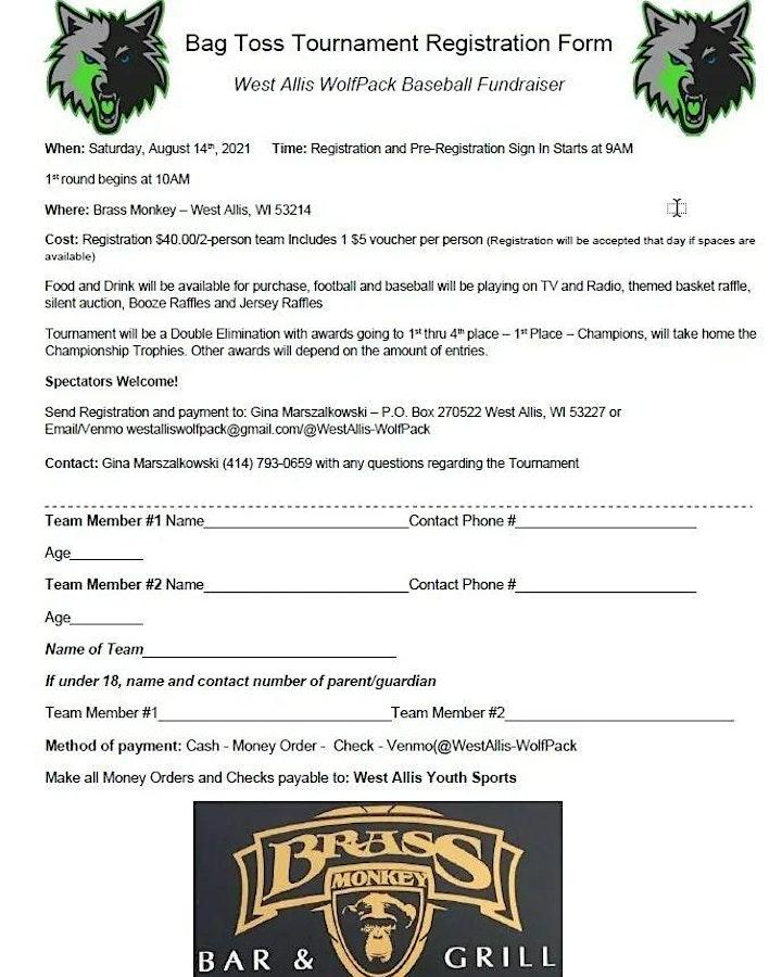 Bag Toss Tournament  - fundraiser image