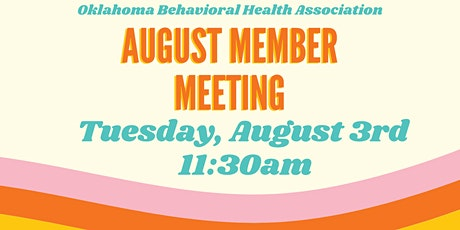 OBHA August Member Meeting tickets
