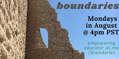 Educators: Setting Boundaries for the New School Year tickets