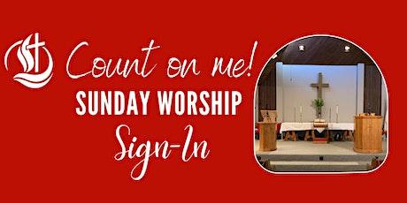 UMCWV  Worship Sign-In 8/1 tickets