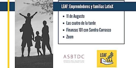 LEAF: Empresarios Latinos y Sus Familias - Finanzas 101 entradas