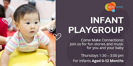 Indoor Infant Playgroup - Thursday, August 5th -1:30-3:00 pm tickets