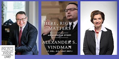 P&P Live! LtC Alexander Vindman | HERE, RIGHT MATTERS with Susan Glasser tickets