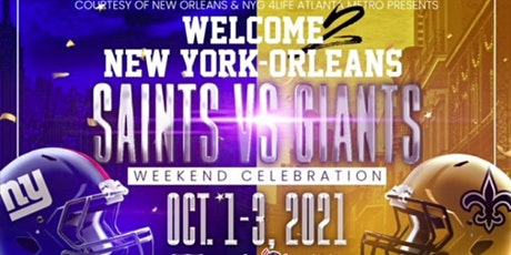 New York Giants & New Orleans Saints Party Weekend Celebration tickets
