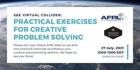 S&E Virtual Collider: Practical Exercises for Creative Problem Solving tickets